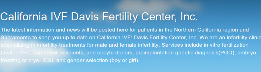Bandeau du blog du Davis Fertility Center {PNG}