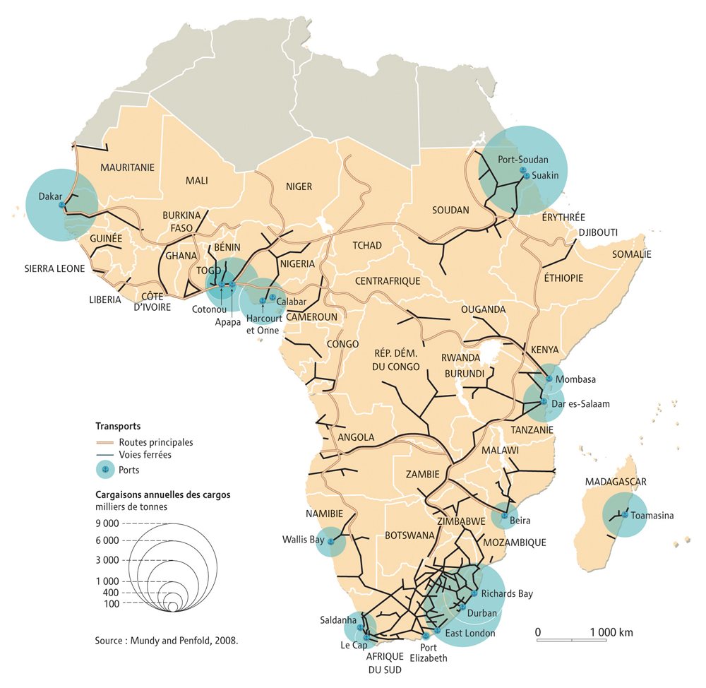 La Carte Hydrographique De Lafrique