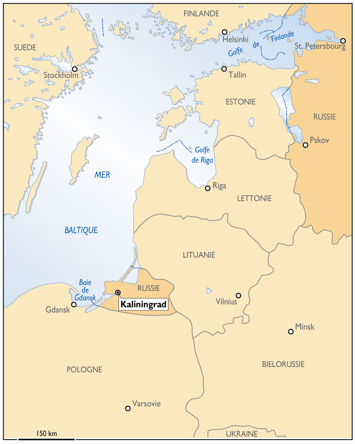 carte europe kaliningrad