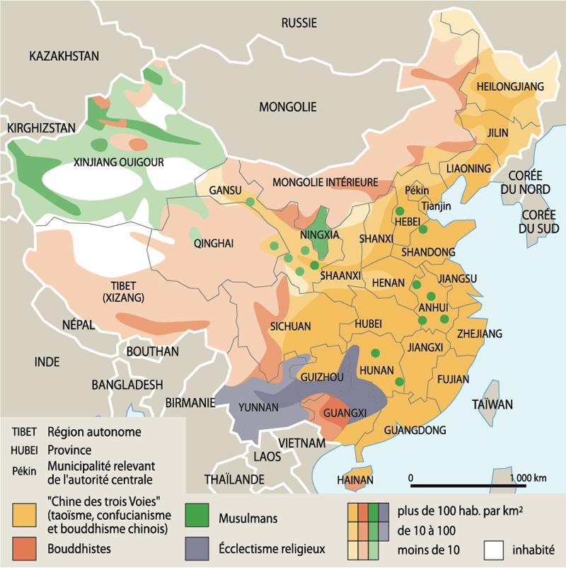 Carte Asie Religion.La Chine Ce N Est Pas La France Elle Surveille Les